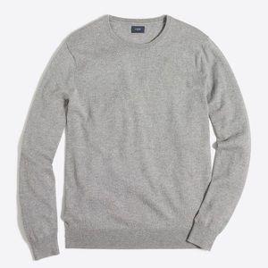 J. crew harbour cotton Grey crew neck sweater - large